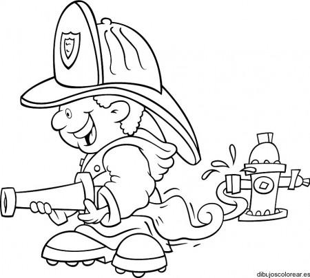Dibujos de bomberos para pintar  Colorear imgenes