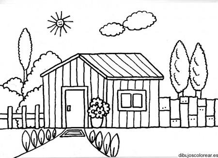Dibujos de paisajes con casas bonitas para pintar colorear im genes - Dibujos de casas modernas ...