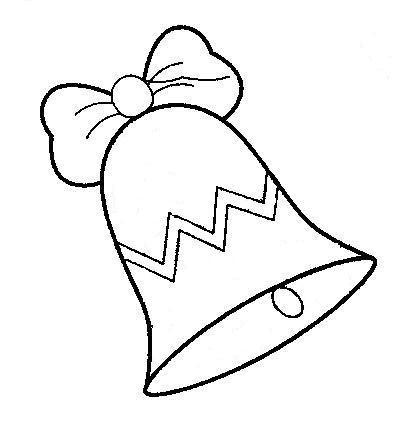 Dibujos de campanas de navidad para pintar colorear im genes for Adornos navidenos para colorear y recortar