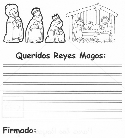 Worksheet. Cartas para los Reyes y Dibujos infantiles de los Reyes Magos para