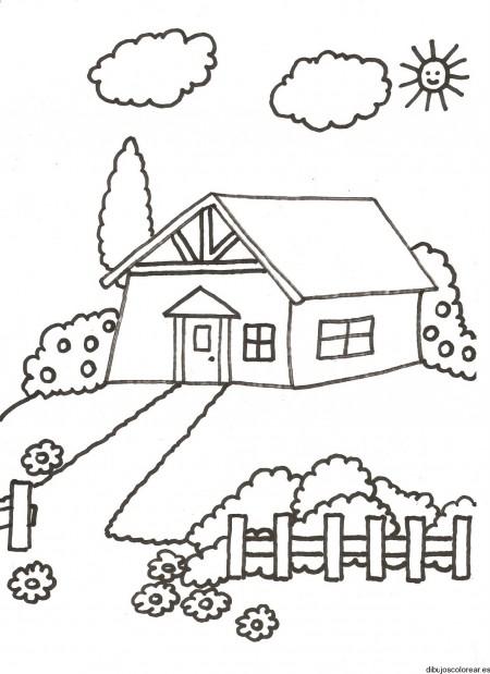 Dibujos de paisajes con casas bonitas para pintar ...