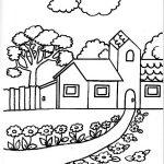 Dibujos de paisajes con casas bonitas para pintar