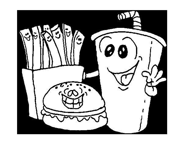 Dibujos de comida r pida para colorear colorear im genes - Dibujos para pintar en tejas ...
