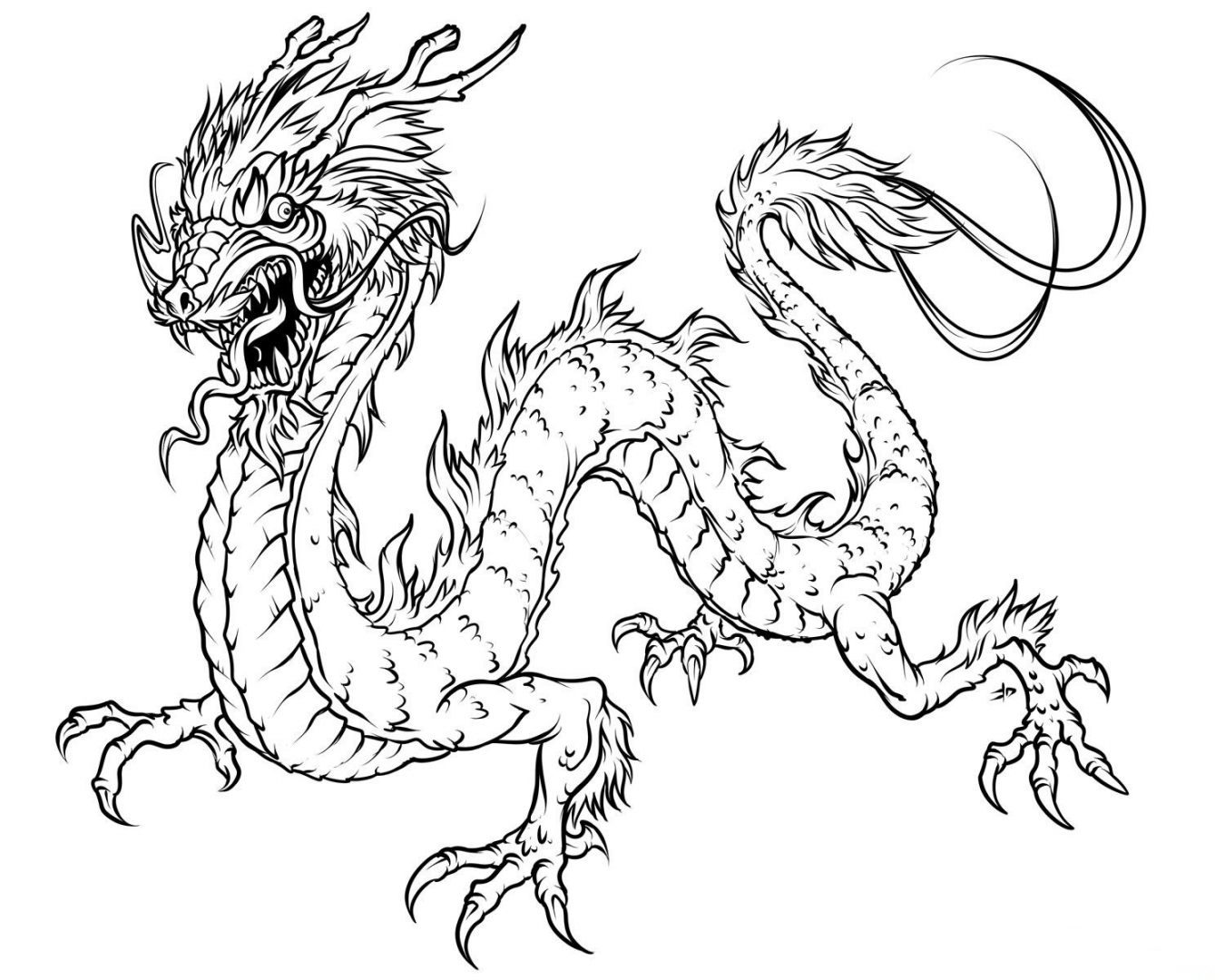 Dibujos Para Colorear De Terror Ninos: + 30 Dibujos De Dragones Terroríficos Para Imprimir Y
