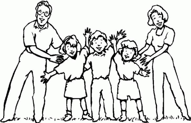 Worksheet. Dibujos de grupos familiares para pintar  Colorear imgenes