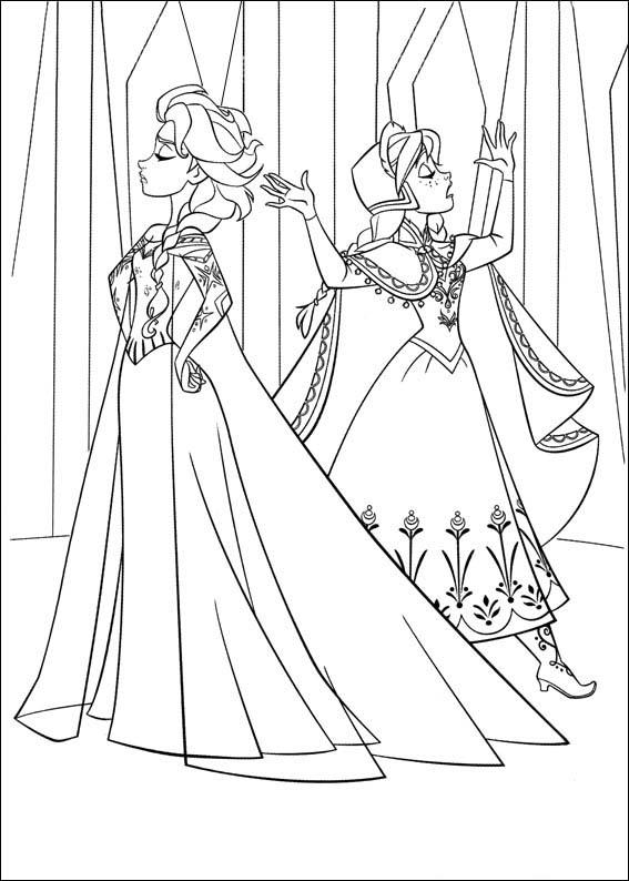 Dibujos de las Princesas de Frozen para pintar  Colorear imgenes