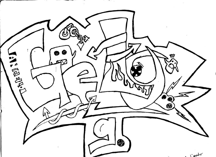 Dibujos De Graffiti Para Imprimir Y Colorear Colorear
