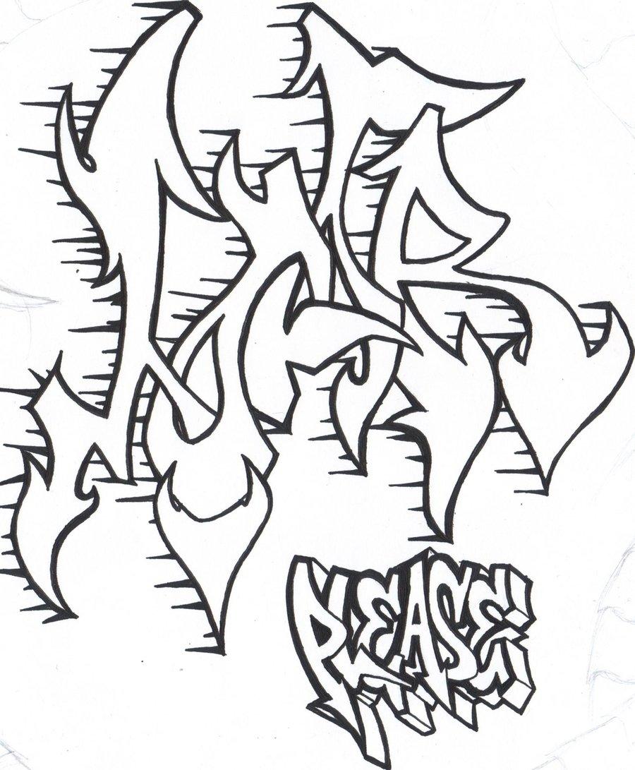 Dibujos de graffiti para imprimir y colorear colorear - Dibujos de pared ...
