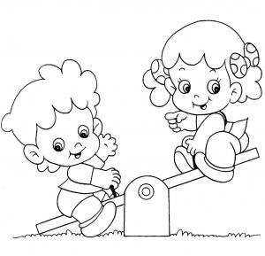 Coloreando dibujos de ni os jugando colorear im genes for Aprendiendo y jugando jardin infantil