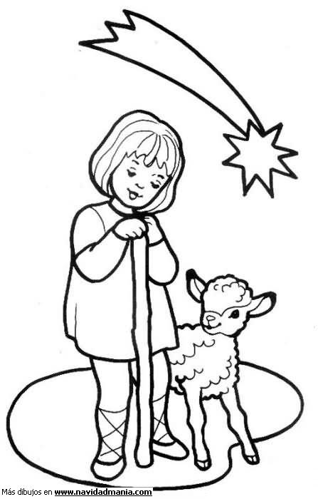 Dibujos de los pastores de Belén para colorear  Colorear ...