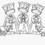 Cartas para los Reyes y Dibujos infantiles de los Reyes Magos para pintar