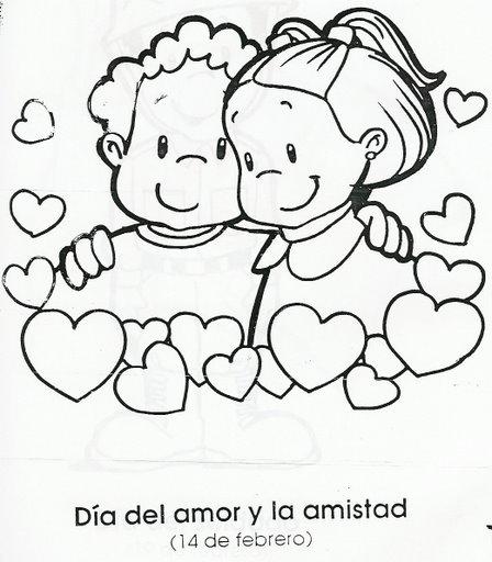 Dibujos para colorear del Día del Amor y la amistad ...