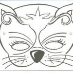 Dibujos de caretas de Carnaval para descargar gratis y pintar