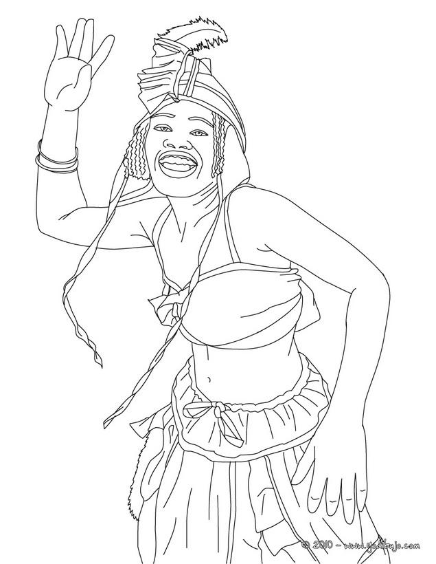 Dibujos de bailarinas del Carnaval de Ro para pintar  Colorear