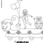 Dibujos infantiles de Carnaval para imprimir y pintar