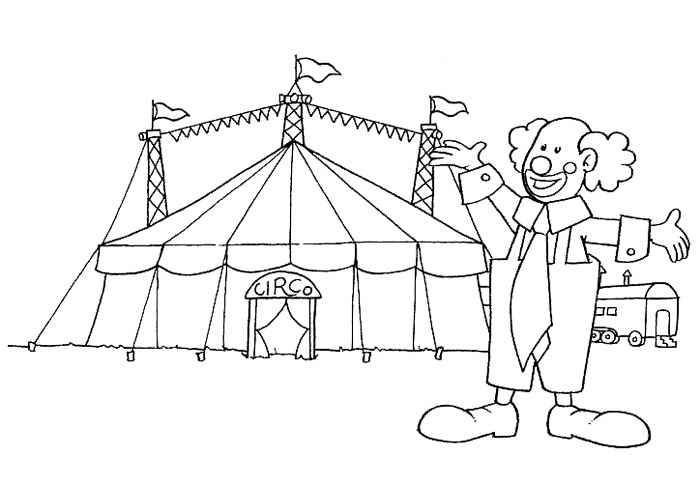 Divertidos dibujos de circo para pintar  Colorear imgenes