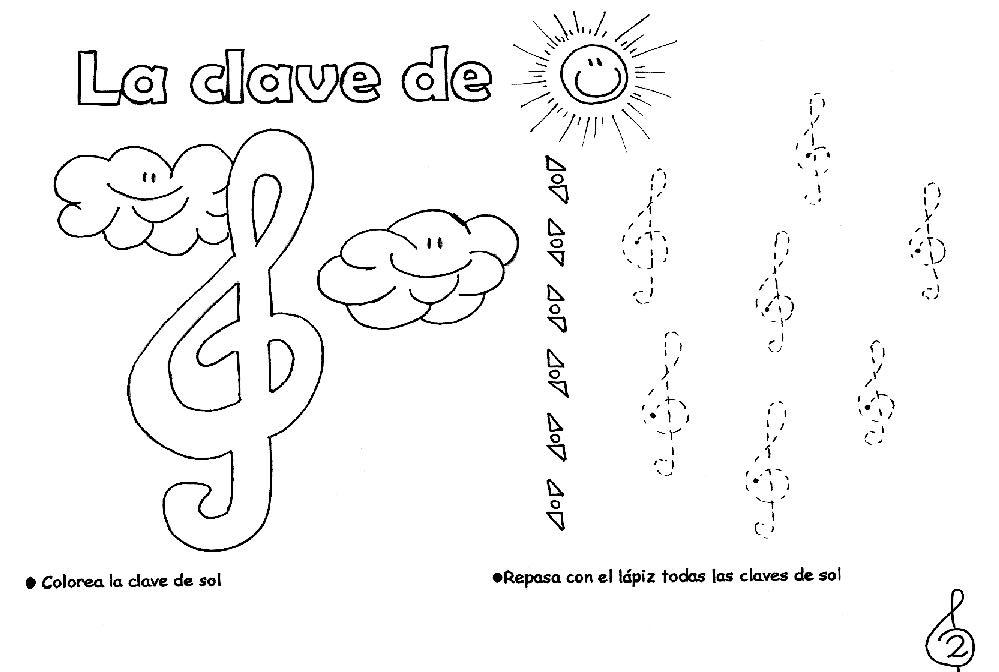 Dibujos Del Sol Para Colorear E Imprimir: Claves De Sol Para Imprimir Y Pintar