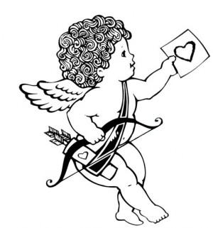 Dibujos de Cupido para descargar imprimir y colorear  Colorear