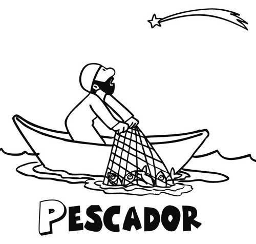 Dibujos de pescadores para imprimir y pintar  Colorear imgenes