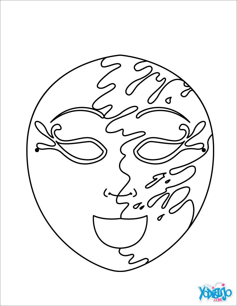 kleurplaat masker aumalbilder masken 18