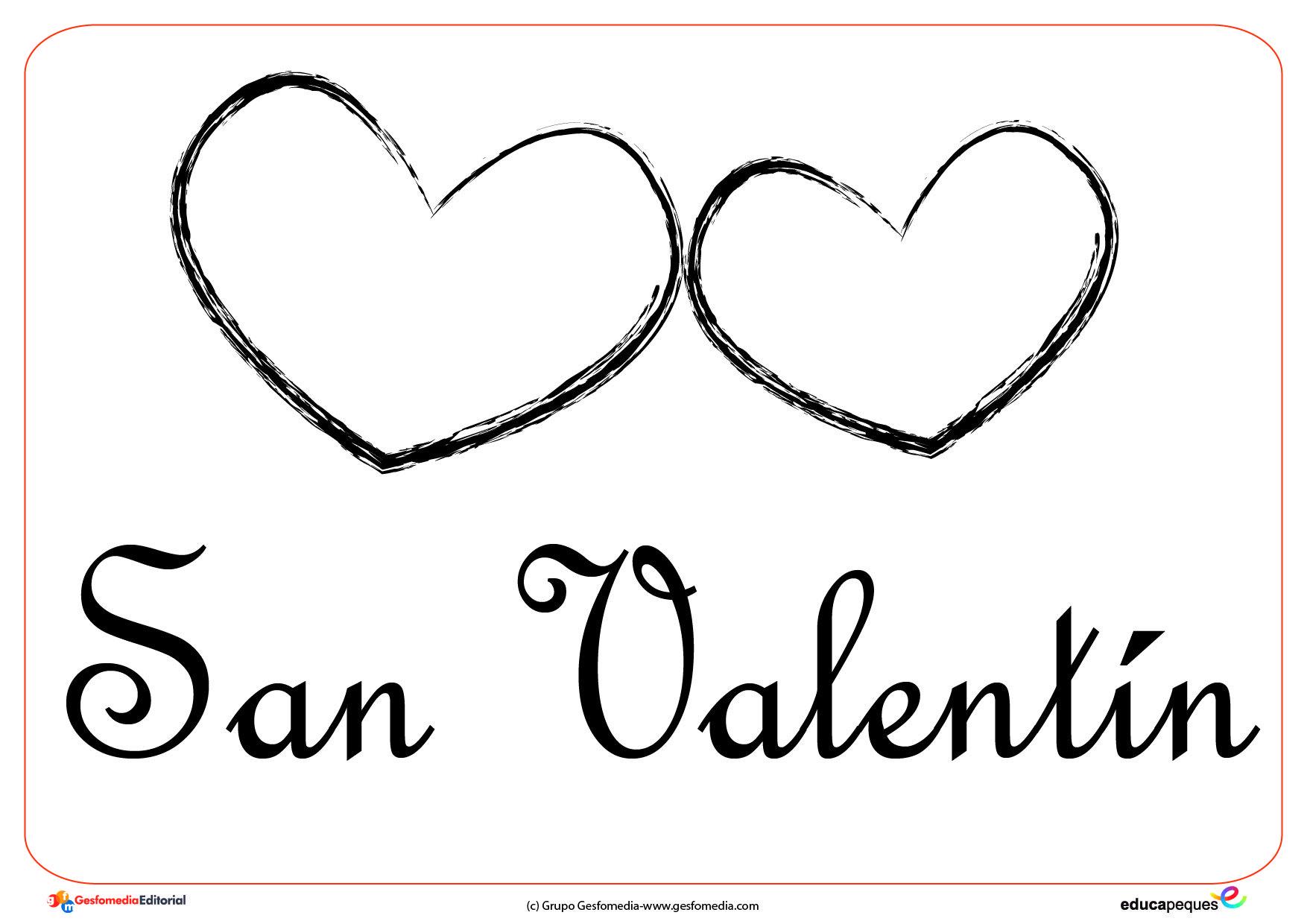 Dibujos Para Colorear Del Dia De Los Enamorados: Día De San Valentín Para