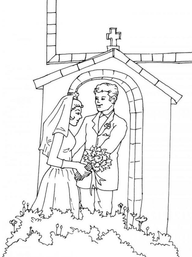 Matrimonio Catolico Dibujo : Dibujos del día matrimonio para colorear
