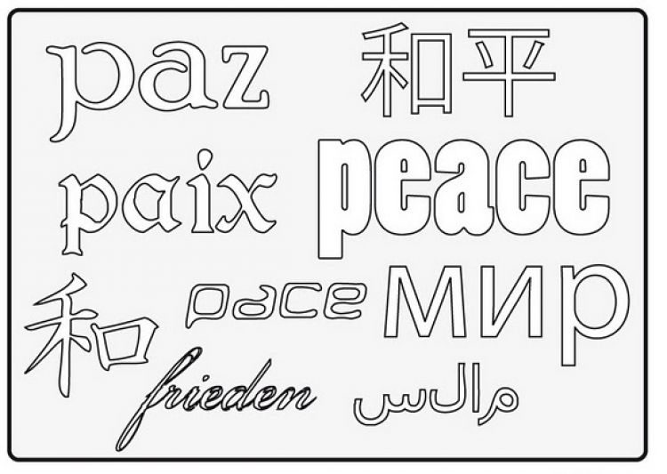 Día Escolar de la Paz y la No Violencia – Dibujos para