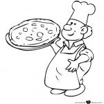 Dibujos de Pizzeros para imprimir y colorear