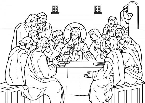 Última-Cena-de-Jesus-Para-Pintar