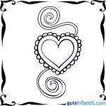 Tarjetas para pintar y regalar del Día de San Valentín