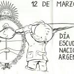 Día del Escudo Nacional Argentino para colorear