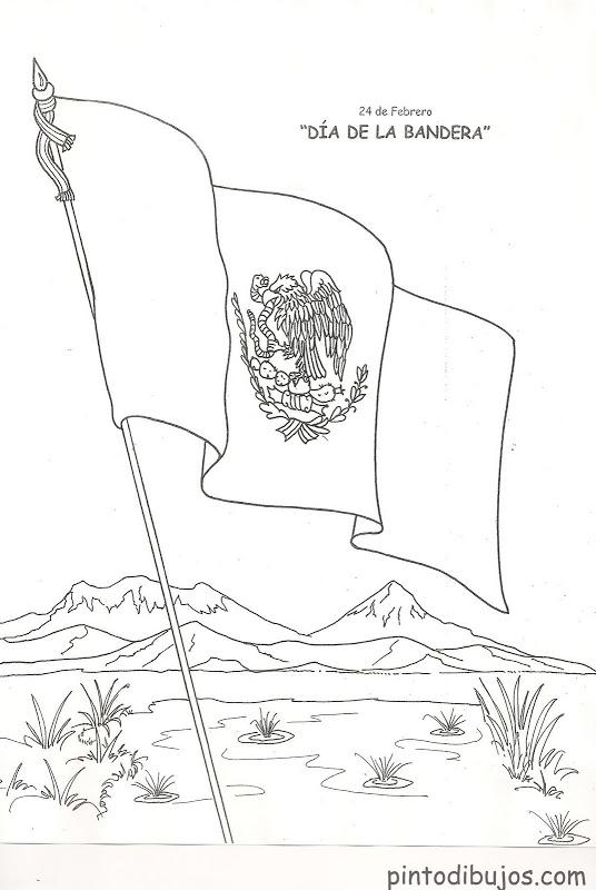 Dia De La Bandera De Mexico Para Pintar on Dibujos De Navidad Para Colorear