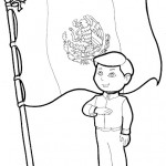 24 de febrero – Día de la Bandera de México para pintar