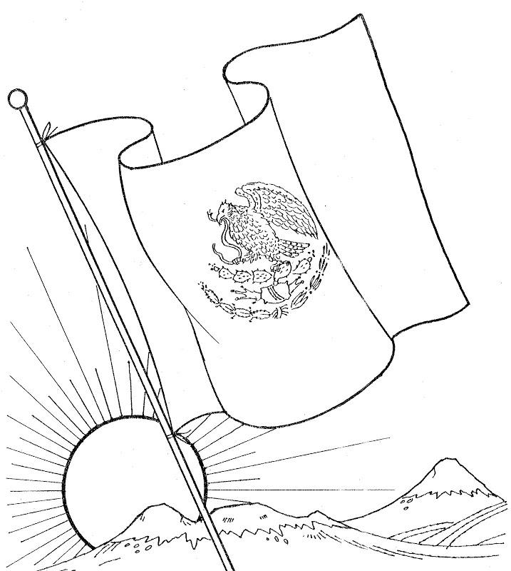 Dibujos de la Bandera de Mxico para descargar imprimir y pintar