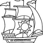 Dibujos de carabelas para descargar y pintar
