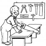 Día del Carpintero para imprimir y pintar