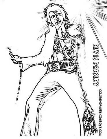 Dibujos De Elvis Presley Para Imprimir Y Pintar Colorear
