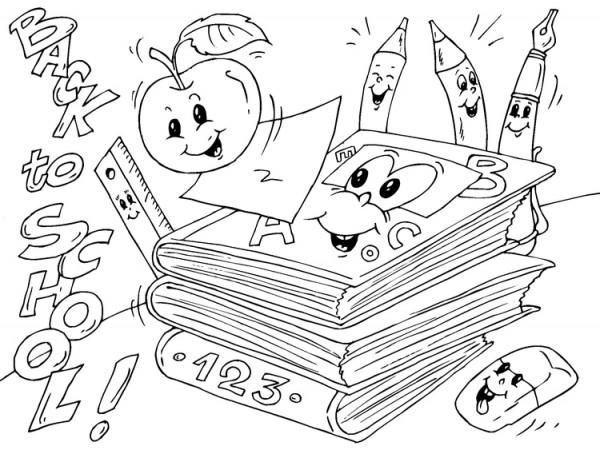 Dibujos divertidos de la vuelta al cole para colorear  Colorear