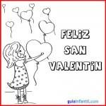 34 Imágenes Felíz Día de San Valentín para imprimir y colorear con amor