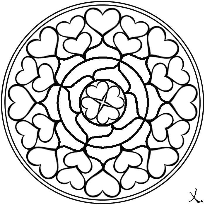 Dibujos De Mandalas De Amor Para Descargar, Imprimir Y