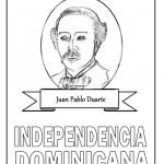 Día de la Independencia de la República Dominicana para pintar