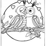Dibujos del Día de los Enamorados para pintar y regalar