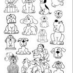 Plantillas con dibujos de animales para colorear y recortar