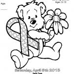 Dibujos de los lazos solidarios del Autismo para pintar el 2 de abril Día Mundial del Autismo