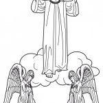 Dibujos de la Ascención de Cristo a los cielos para pintar