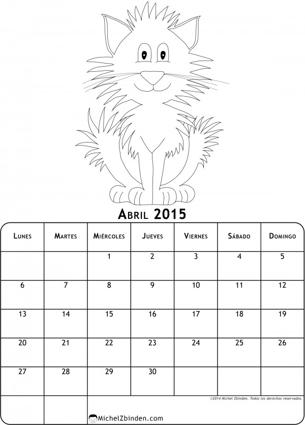 calendario-abril-2015-dibujo-para-colorear-gato-l