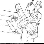 Día del Carpintero para colorear