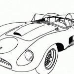 Dibujos de autos deportivos para colorear