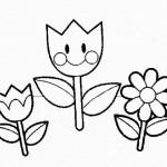 Flores de primavera para pintar