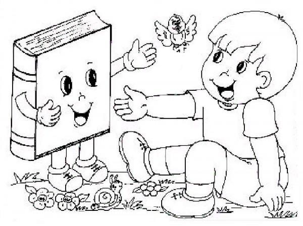 Dibujos Para Pintar Y Celebrar El Da Internacional Del Libro Infantil